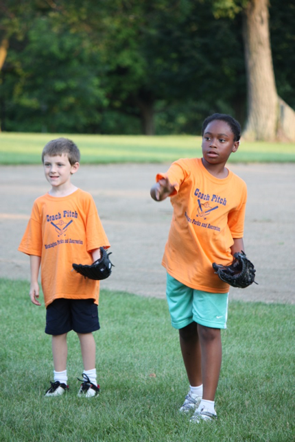 kids with baseball gloves